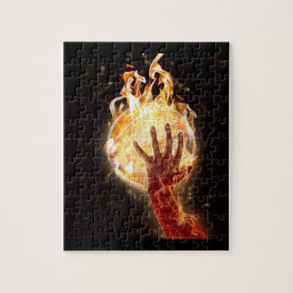 Basketball on Fire Puzzle w/ Gift Box