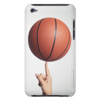 Basketball on index finger,hands close-up barely there iPod cases