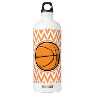 Basketball on Orange and White Chevron