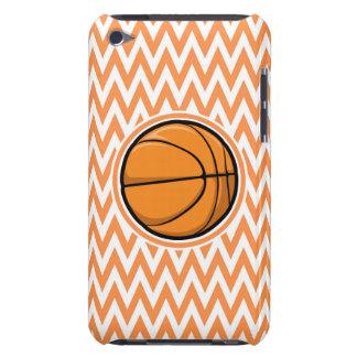 Basketball on Orange and White Chevron iPod Case-Mate Case