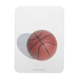 Basketball on white background magnet