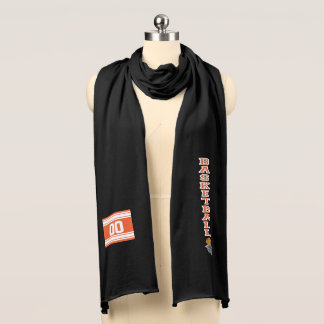 Basketball Orange Letter Personalize Scarf