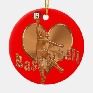Basketball Ornaments with Her NUMBER and NAME