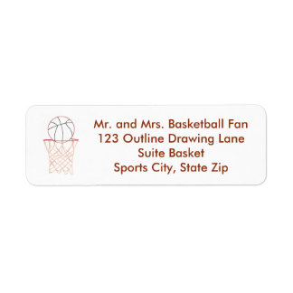 Basketball Outline Drawing Address Labels