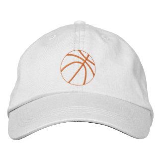 Basketball Outline Embroidered Baseball Caps