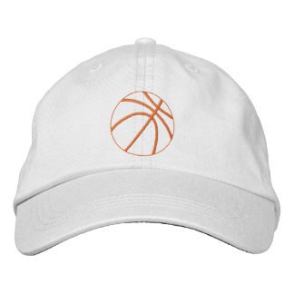 Basketball Outline Embroidered Hats