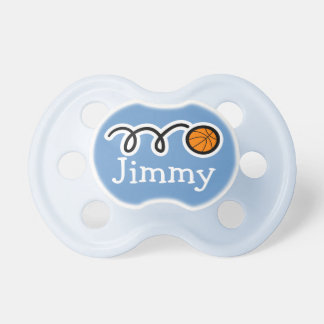 Basketball pacifer with name | Soother dummy binky