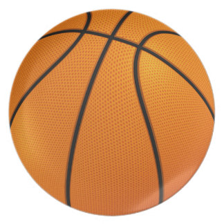 Basketball party plate