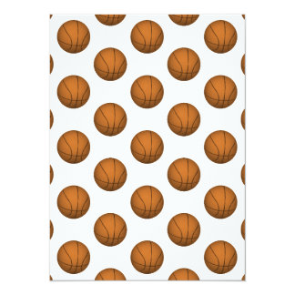 Basketball Pattern Card