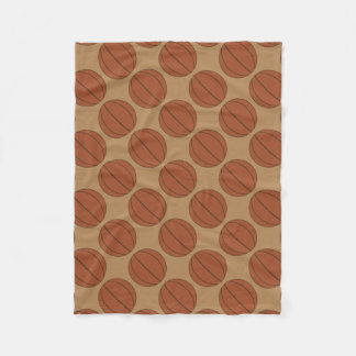 Basketball pattern small fleece blanket