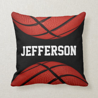 Basketball Personalized with name Throw Pillow