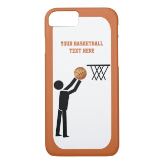 Basketball player black icon with ball custom iPhone 7 case