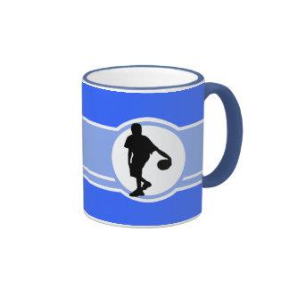 Basketball Player Blue Mugs
