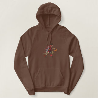 Basketball Player Embroidered Hoodie