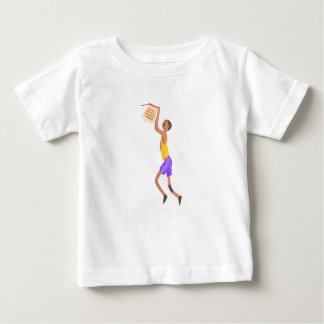 Basketball Player Hanging On Goal Action Sticker Baby T-Shirt