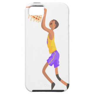 Basketball Player Hanging On Goal Action Sticker Case For The iPhone 5