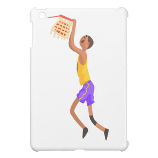 Basketball Player Hanging On Goal Action Sticker iPad Mini Cover