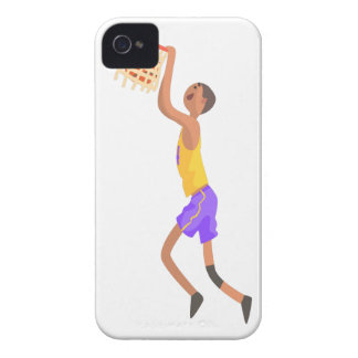Basketball Player Hanging On Goal Action Sticker iPhone 4 Covers