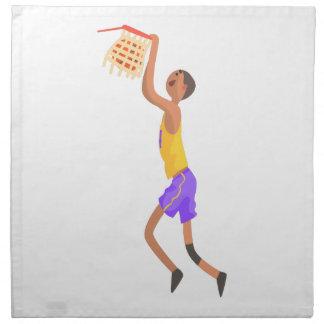 Basketball Player Hanging On Goal Action Sticker Napkin