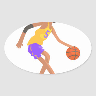 Basketball Player In Red Headband Action Sticker