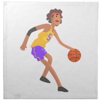 Basketball Player In Red Headband Action Sticker Napkin
