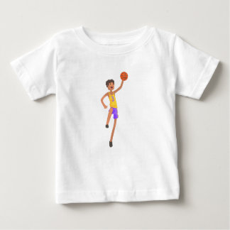 Basketball Player Jumping Action Sticker Baby T-Shirt