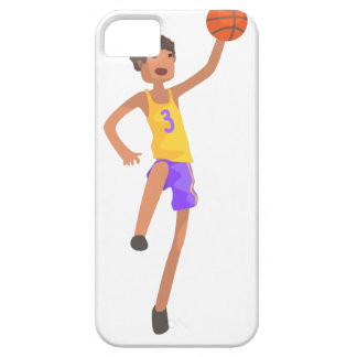Basketball Player Jumping Action Sticker iPhone 5 Covers