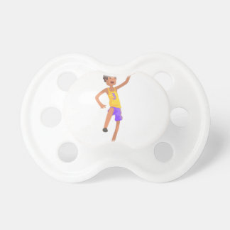 Basketball Player Jumping Action Sticker Pacifier