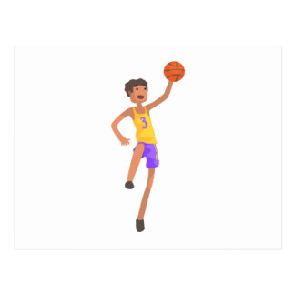Basketball Player Jumping Action Sticker Postcard