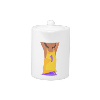 Basketball Player Jumping And Throwing Action Stic