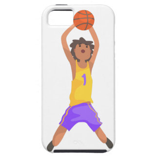 Basketball Player Jumping And Throwing Action Stic Case For The iPhone 5