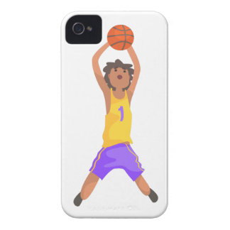 Basketball Player Jumping And Throwing Action Stic Case-Mate iPhone 4 Case