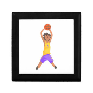 Basketball Player Jumping And Throwing Action Stic Gift Box