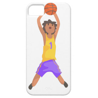 Basketball Player Jumping And Throwing Action Stic iPhone 5 Cover