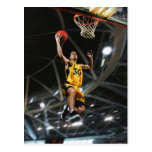 Basketball player  jumping in air postcards