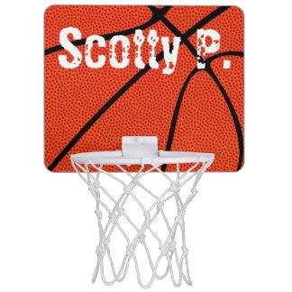 Basketball Player Name Mini Hoop for Kids Room