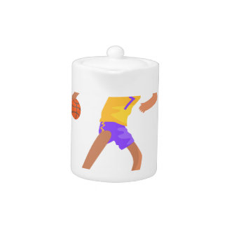 Basketball Player Passing The Ball Action Sticker