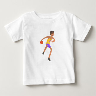 Basketball Player Passing The Ball Action Sticker Baby T-Shirt