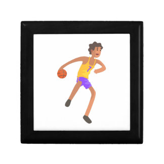 Basketball Player Passing The Ball Action Sticker Gift Box