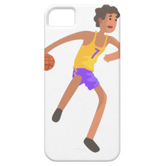 Basketball Player Passing The Ball Action Sticker iPhone 5 Case