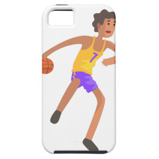 Basketball Player Passing The Ball Action Sticker iPhone 5 Cover