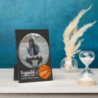 Basketball Player Photo Name and Year Plaque