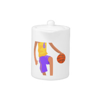 Basketball Player Running With Ball Action Sticker