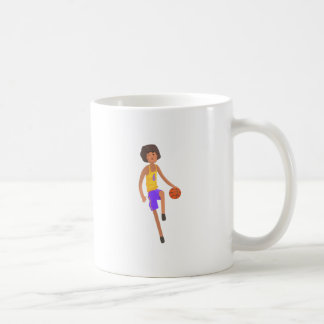 Basketball Player Running With Ball Action Sticker Coffee Mug