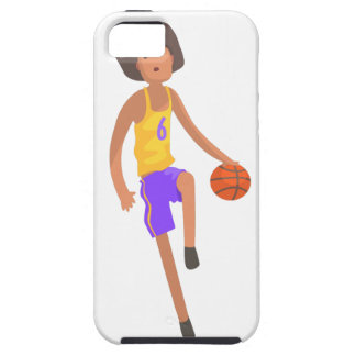 Basketball Player Running With Ball Action Sticker iPhone 5 Cover