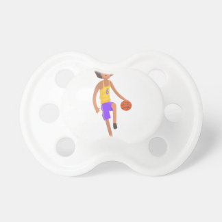 Basketball Player Running With Ball Action Sticker Pacifier