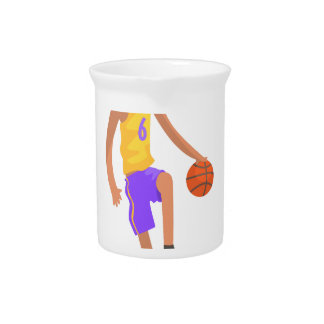 Basketball Player Running With Ball Action Sticker Pitcher