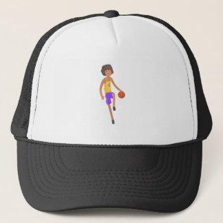 Basketball Player Running With Ball Action Sticker Trucker Hat