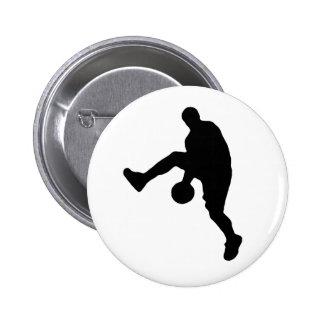 Basketball Player Silhouette 2 Inch Round Button