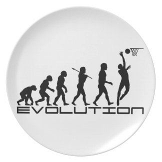 Basketball Player Sport Evolution Art Plate